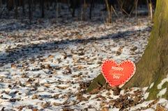 Corazón del día de tarjeta del día de San Valentín para su amado Foto de archivo libre de regalías