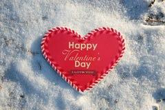 Corazón del día de tarjeta del día de San Valentín para su amado Foto de archivo