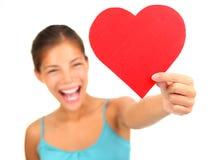 Corazón del día de tarjetas del día de San Valentín imagenes de archivo