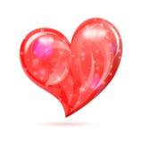 Corazón del día de tarjetas del día de San Valentín Fotografía de archivo libre de regalías