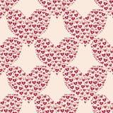 Corazón del día de tarjetas del día de San Valentín stock de ilustración