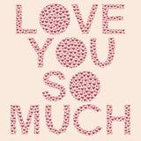 Corazón del día de tarjetas del día de San Valentín ilustración del vector