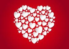 Corazón del día de tarjetas del día de San Valentín de corazones del papel del vector ilustración del vector
