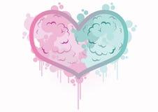 Corazón del día de tarjetas del día de San Valentín, en amor imagenes de archivo
