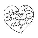 Corazón del día del ` s de la tarjeta del día de San Valentín ilustración del vector