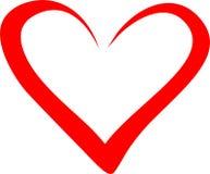 Corazón del día del ` s de la tarjeta del día de San Valentín stock de ilustración