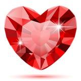 Corazón del diamante Foto de archivo