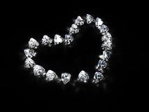 Corazón del diamante Fotos de archivo