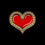 Corazón del diamante del día de tarjetas del día de San Valentín Fotos de archivo