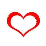 corazón del dibujo Fotografía de archivo