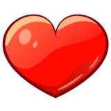 Corazón del dibujo de la historieta de la tarjeta del día de San Valentín Imagen de archivo