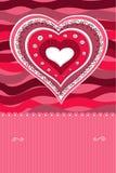 Corazón del Doodle Imagen de archivo libre de regalías