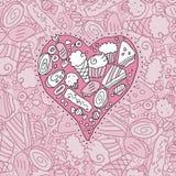 Corazón del Doodle Fotografía de archivo
