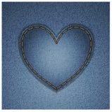 Corazón del dril de algodón Imagen de archivo