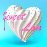 corazón del dulce Fotografía de archivo
