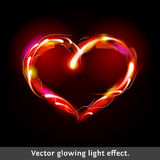 Corazón del efecto luminoso del vector Foto de archivo