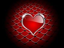 Corazón del elemento del casino Stock de ilustración