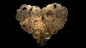 Corazón del engranaje stock de ilustración