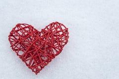 Corazón del escarlata Imágenes de archivo libres de regalías