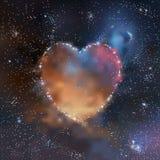 Corazón del espacio Foto de archivo