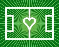 Corazón del fútbol Fotografía de archivo libre de regalías
