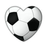 Corazón del fútbol ilustración del vector