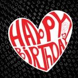 Corazón del feliz cumpleaños Imagenes de archivo