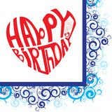 Corazón del feliz cumpleaños Imágenes de archivo libres de regalías