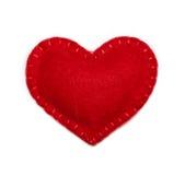 Corazón del fieltro Fotografía de archivo