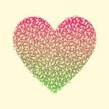Corazón del follaje rojo (aislado) Imágenes de archivo libres de regalías
