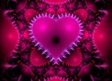 Corazón del fractal Imagen de archivo libre de regalías