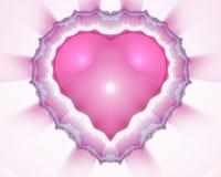 Corazón del fractal Fotos de archivo libres de regalías