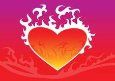 Corazón del fuego Imagen de archivo