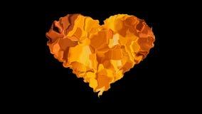 Corazón del fuego Imagenes de archivo