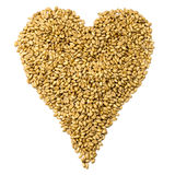 Corazón del grano Imagenes de archivo