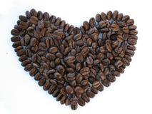 Corazón del grano de café Fotografía de archivo libre de regalías