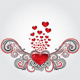 Corazón del Grunge Imagen de archivo libre de regalías