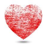 Corazón del Grunge stock de ilustración