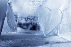 Corazón del hielo Imágenes de archivo libres de regalías