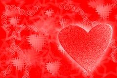 Corazón del hielo Foto de archivo libre de regalías