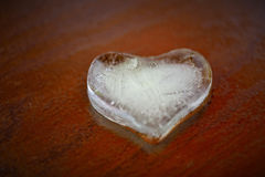 Corazón del hielo Imagen de archivo libre de regalías