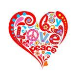 Corazón del hippie Fotografía de archivo libre de regalías