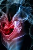 Corazón del humo Imágenes de archivo libres de regalías