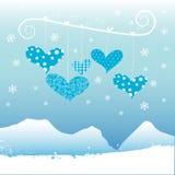 Corazón del invierno stock de ilustración