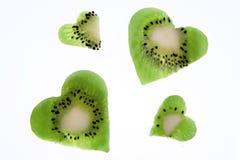 Corazón del kiwi Imagen de archivo