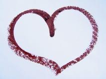 Corazón del lápiz labial Imagen de archivo libre de regalías