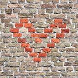 Corazón del ladrillo, teja semaless imagen de archivo
