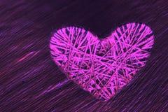 Corazón del lenticum de lino en roble Fotos de archivo