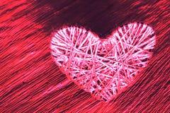 Corazón del lenticum de lino en roble Fotografía de archivo