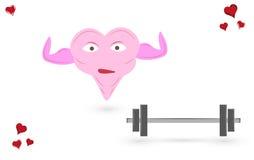 Corazón del levantamiento de pesas Imagen de archivo